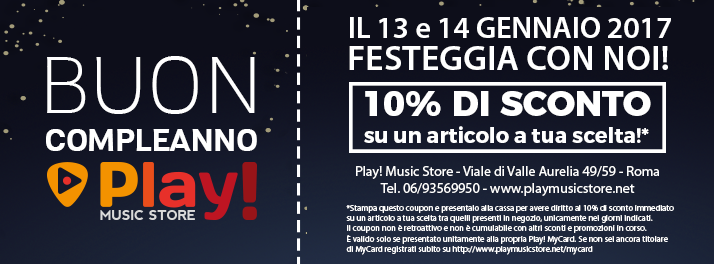 Play! Music Store - Coupon