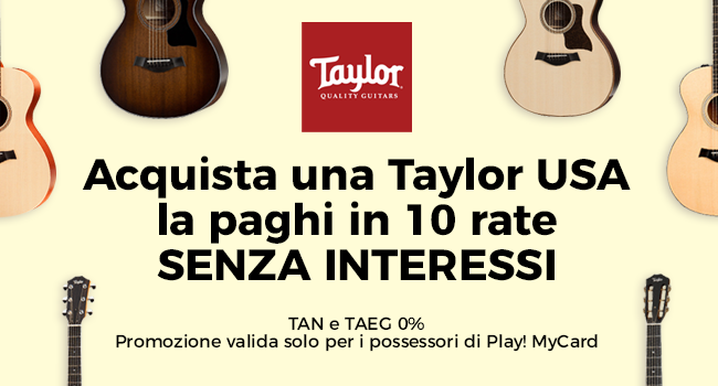 Taylor Made in USA in 10 rate - TAN e TAEG 0%