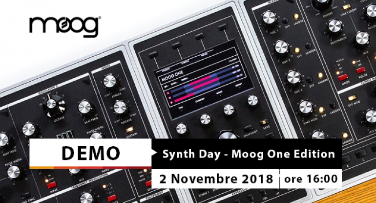 Synth Day - Moog One Edition - 2 novembre 2018