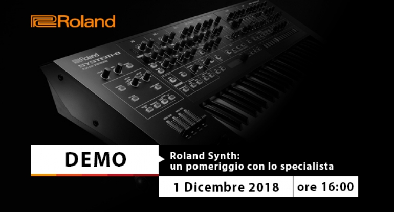 Demo - Roland Synth - 1 dicembre 2018