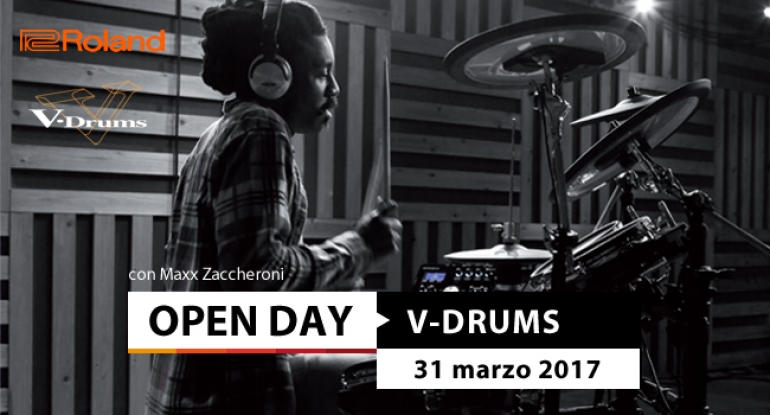 Open Day - Roland V-Drums - 31 marzo 2017