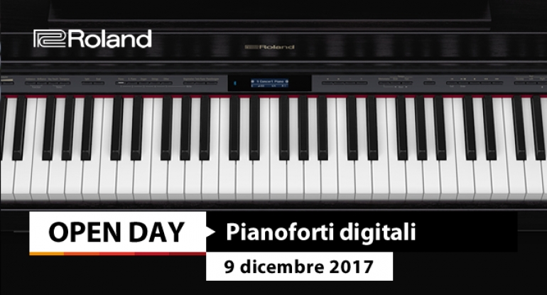 Open Day - Roland Digital Piano - 9 dicembre 2017