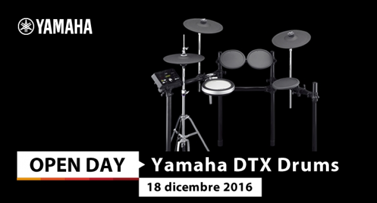 Open Day - Yamaha DTX Drums - 22 dicembre 2016