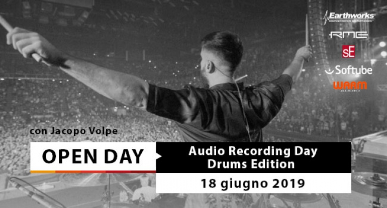 Open Day - Audio Recording Day: Drums Edition - 18 giugno 2019